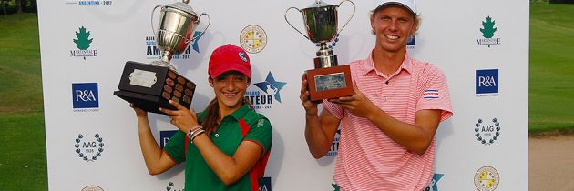 Paul Chaplet and Isabella Fierro, winners of the South American Amateur Open 2017