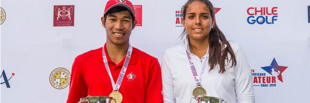 Crisologo and Escauriza, winners of the South American Amateur Open in Chile