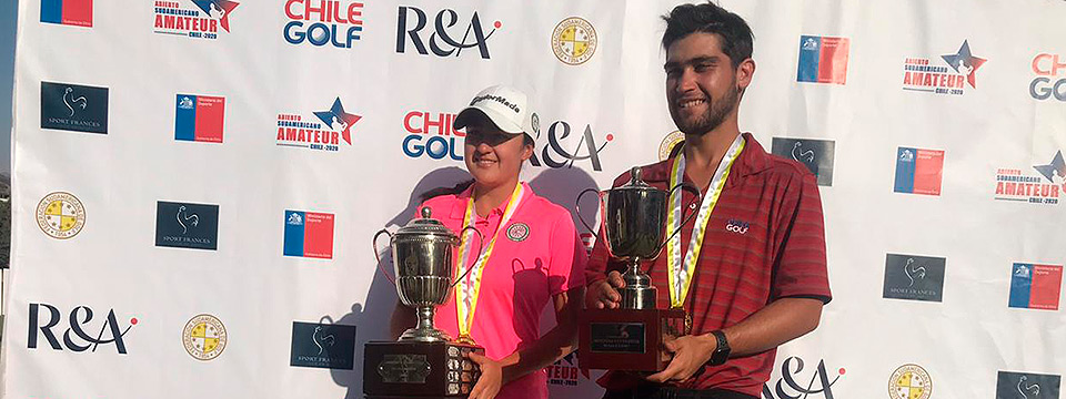 Benjamín Saiz-Wenz and Mariajo Bohorquez, winners of the South American Amateur Open 2020